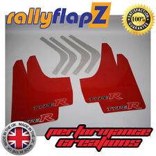rallyflapZ HONDA CIVIC TYPE R FN2 (2007-2010) Mud Flaps Red Logo BIG 3mm PVC