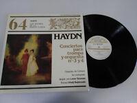 Haydn Konzerte para Waldhorn Y orquesta LP Vinyl vinyl VG/VG Spanisch Ed Sarpe