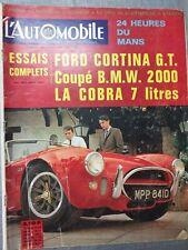 L'AUTOMOBILE n°242 JUIN 1966 FORD CORTINA GT / BMW 2000 / COBRA 7 LITRES