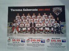 Wchl Tacoma Sabercats 2001-2002 Team Photo