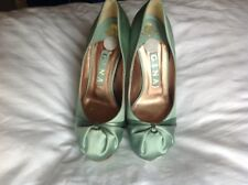Gina High Heel Shoes - Sea Green Satin. Style 'Elle'. Size UK 4.5. New.