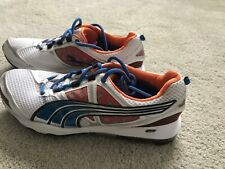 Puma Men's Sz 10.5 Sport Lifestyle Golf Shoes White Blue Orange Pre-Own