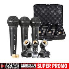Microfono Professionale Set 3 microfoni ideale per presentazioni canto karaoke