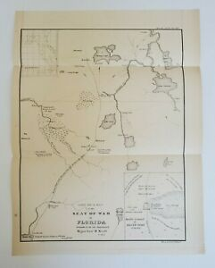 Copy of a 1836  Map of the Seat of War in Florida by Major Genl. W. Scott, 1860