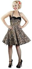 Lucky 13 Scarlet Letter Party Dress SM Leopard Print NWOT
