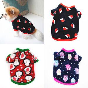Pet Puppy Cat Dog Christmas Fleece Coat T-Shirt Warm Vest Dog Clothes Apparel