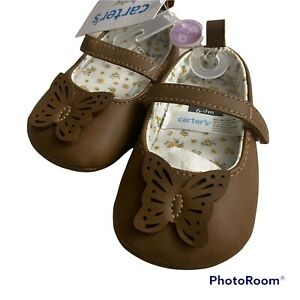 Baby Girl Soft Sole Crib Shoes Mary Jane Fall Winter Shoes 6-9 Months