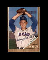 Barney Schultz Hand Signed 1962 Topps Chicago Cubs Autograph