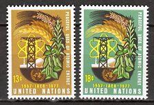 UN / New York office - 1977 20 years atomic energy agency - Mi. 313-14 MNH
