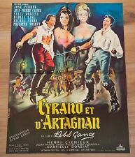 CYRANO ET D'ARTAGNAN Affiche cinéma 60x80 ABEL GANCE, JOSÉ FERRER, SYLVA KOSCINA