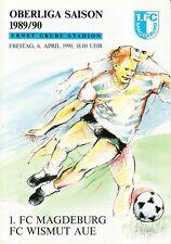 OL 89/90 1. FC Magdeburg - FC Wismut Aue