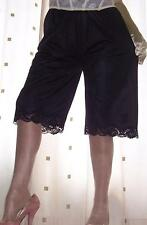 Black silky soft nylon vintage style knickers~pettipants~culottes~bloomer 20~22