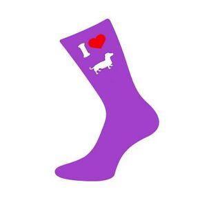 I Love Dachshund Sausage Dog Weiner Dog Ladies Novelty Socks Brand New
