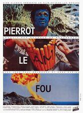 Pierrot Le fou Jean-Paul Belmondo Jean-Luc Godard #2 cult movie poster 24x32