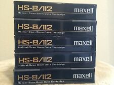 LOT 5 / Maxell 2.5/5.0GB 8MM HS-8/112 Data 8 Cartridge Helical Scan Drives - NEW