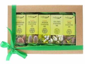 Sauna & SPA Essential Oil Gift Set - 5 Oils - 100% Pure & Organic