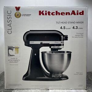 KitchenAid Classic K45SSOB 4.5qt Tilt-Head Stand Mixer Onyx Black NEW