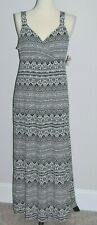 NWT!!  Metaphor Black White Aztec Print Maxi Long Summer Dress Size XL Stretch