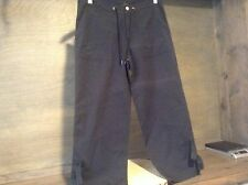 Champion BLACK Women's Casual Capri Pants Sz SMALL EUC DRAWSTRING VELCRO STYLE