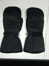 "Vintage Thinsulate Waterproof Snowmobile mittens gloves large Black 14"" long"