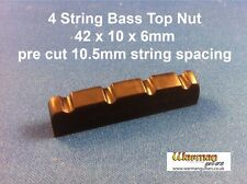 Black electric Bass guitar Top Nut / Bridge 42 x 10 x 6mm - UK SUPPLIER