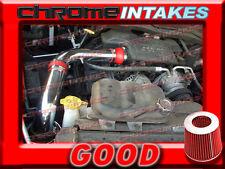 RED 02-10 DODGE RAM 1500/2500/3500 3.7 3.7L 4.7 4.7L 5.7L V6 V8 COLD AIR INTAKE