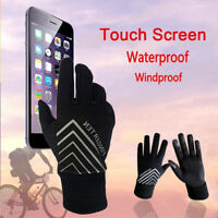 Womens Warm Winter Gloves 1 Pair Mens Fleece Lined Touch Screen For Smart Phone