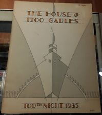 1935 The House of 1200 Gables Frederick C Mayer Theater Program Vintage