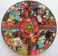 WRECK-IT RALPH FELIX KING CANDY VANELLOPE STAINED GLASS 4 IN FANTASY PIN LE 60