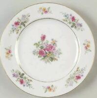 "Vintage Puritan China ""Melody"" Floral Dinner Plates Japan 10 1/2"" Set Of 3"