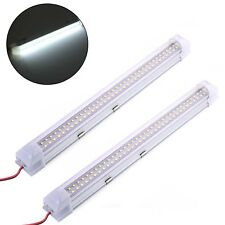 2X 72 LED Car Interior Strip Lights Bar Lamp Van Caravan Trunk 12V ON/OFF Switch