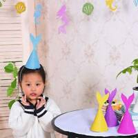 10Pcs/pack Mermaid Tail Hat Birthday Party Decor Paper Craft Caps Kids Supplies