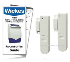 Wickes Alarms Wirfree Door Window Contact 710744 433MHz ( TWIN PACK ) INC GUIDE