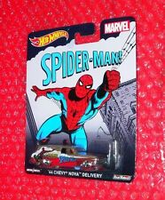 Hot Wheels MARVEL Spiderman! '64 Chevy Nova Delivery  Real Riders CFP60-0814