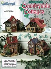 Countryside Cottages plastic canvas pattern booklet NEW rare