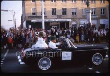 Vtg 1964 Slide Photo MG Midget Car w/ Kid Girl Beauty Queen LEXINGTON NC Parade