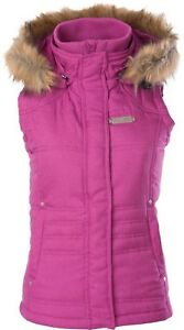 NOS DIVA SNOW GEAR 462-11123X INSULATED HOODED VEST BERRY SIZE WOMENS 3XL