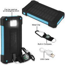 FLOUREON 10,000mAh Solar Charger Power Bank Portable Phone Charger DUAL USB