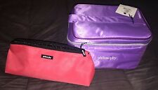 Philosophy Cosmetic Make Up Bag Lot of 2 NEW - Lilac/Purple & Pink/Black