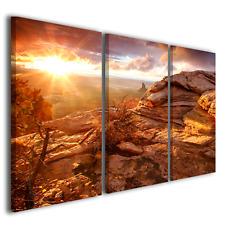 Tele moderne stampe su tela Day End quadro moderno con tramonto e paesaggio