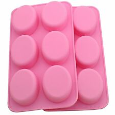 Soap Oval Shape DIY Silicone mold Candy Chocolate Muffin Tray mould ICE Cube