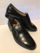 Vintage Retro Leather Loafers Shoes Yisheng Unisex Black Men's 6 1/2 Women's 9