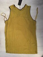 £45 RRP TED BAKER LADIES LYRIS GATHERED BACK VEST TOP BRIGHT GREEN SIZE UK 12