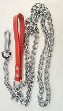 Martin-pêcheur Chaîne robuste laisse chien cuir Poignée 1.83m/180cm MAX POIDS