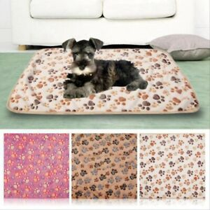 Cover Foot Paw Print Cat Cushion Dog Bed Mats Pet Blanket Sleeping Mattress