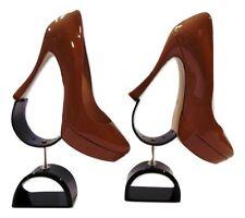 Miu Miu curved heel platform camel patent leather very high heel Sz 39 8.5 $790