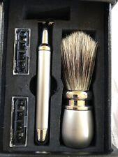 Vintage Executive  Travel Shaving Kit. Razor, Brush And Blades. Very Nice