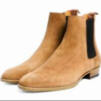 Mens British Style Pull On Ankle Boots Shoes Desert Chelsea Boots Suede Outdoor