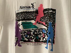 Very Rare Tennis T Shirt Large L Olympics Australian Open 1988 Seoul