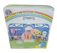 MY LITTLE PONY MLP 35TH ANNIVERSARY PRETTY PARLOR W/ PEACHY PONY TOY NEW IN BOX